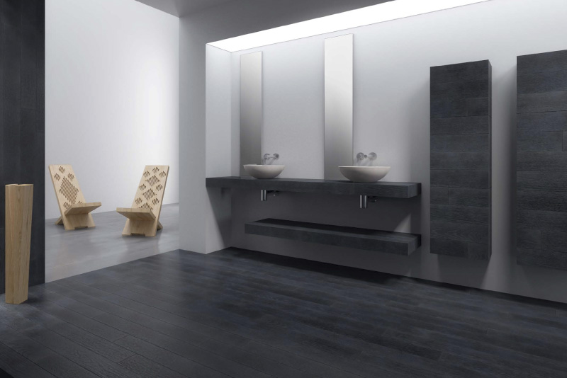 Arredo bagni con rivestimento in legno 5 millimetri - Arredo bagno ozzano dell emilia ...